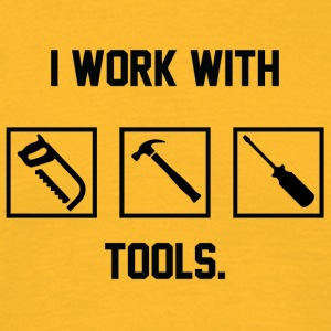 Zimmermann: I work with Tools. - Men's T-Shirt