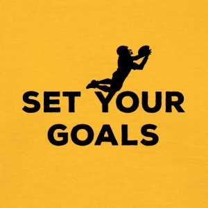 Football: Set your Goals - Men's T-Shirt