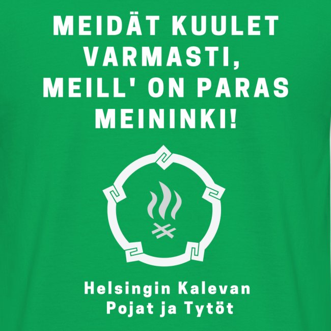 HKPT logotuote huutopainatuksella