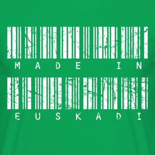 Made in Euskadi White Grunge - Camiseta hombre