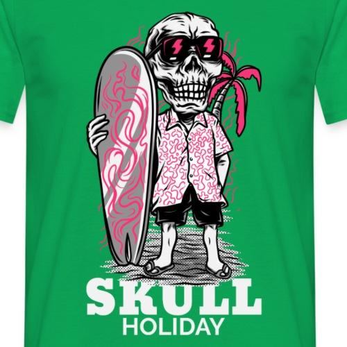 Skull Holiday | Calavera Esqueleto Surf - Camiseta hombre