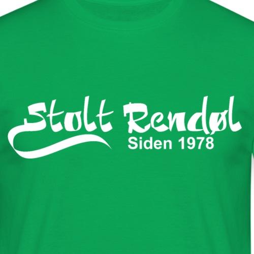 stolt rendøl 1978 - T-skjorte for menn