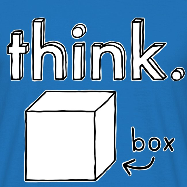 Think Outside The Box Illustration