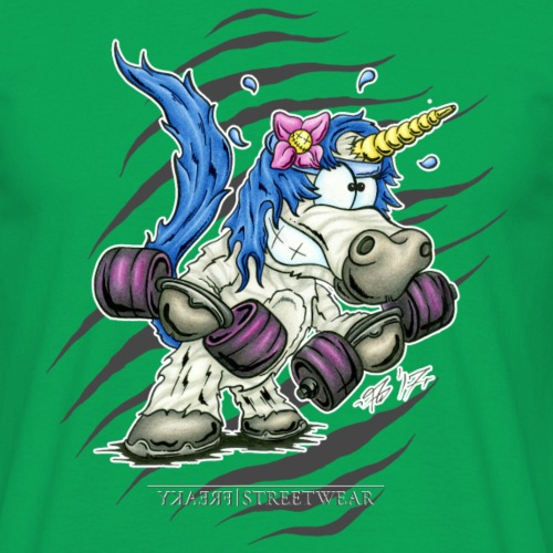 Train like a unicorn - Männer T-Shirt