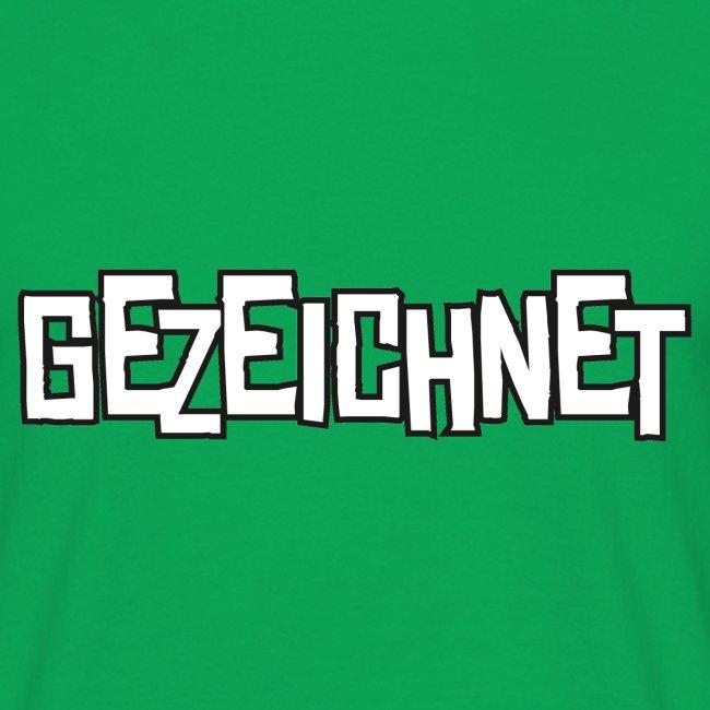 Gezeichnet Logo Weiss auf Transparent gross