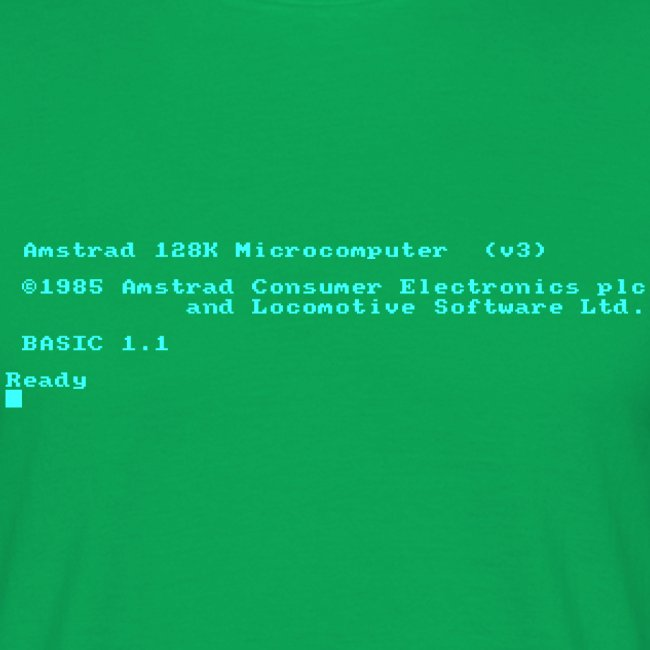 Amstrad CPC 6128 Green Screen BASIC retro computer
