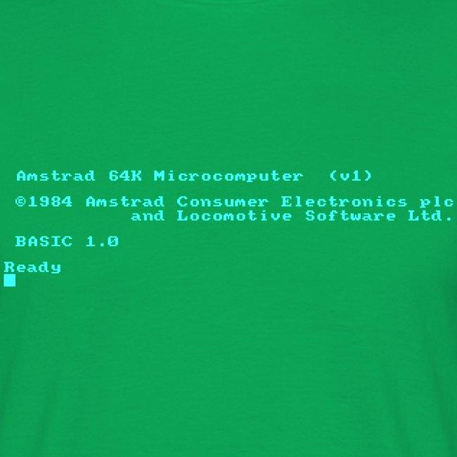 Amstrad CPC 464 Green Screen BASIC retro computer