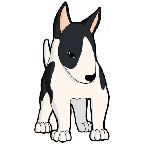 Bull Terrier bianco nero - Maglietta da uomo