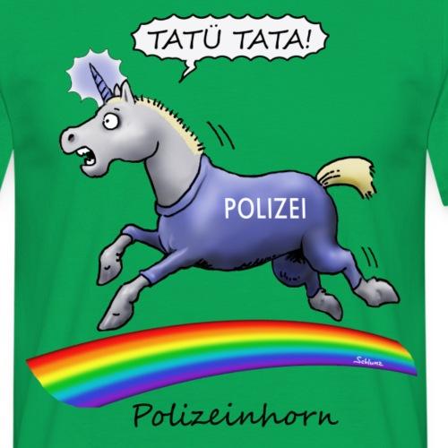 Polizeinhorn - Männer T-Shirt