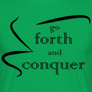 Forth and Conquer negro - Camiseta hombre