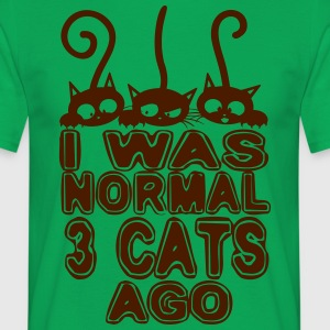 I was normal before 3 cats - Men's T-Shirt