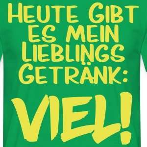 Favourite drink veel - Mannen T-shirt