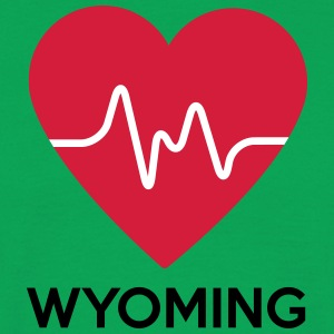 heart Wyoming - Men's T-Shirt