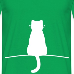 Sitting Cat - Mannen T-shirt