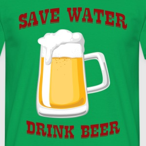 Øl - Save Water, Drink Beer - T-skjorte for menn