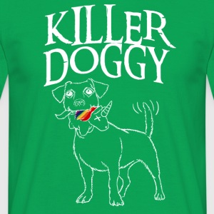 Killer Doggy Unicorn - Unicorn Hvit - T-skjorte for menn