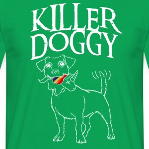 Killer Doggy Unicorn - Unicorn Vit - T-shirt herr