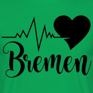 i_love_bremen_schwarz - Men's T-Shirt