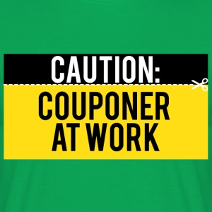 Couponing / Gifts: Caution - Couponer at work - Men's T-Shirt