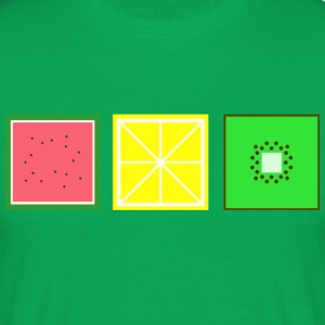 DIGITAL FRUITS - Pixel Melon - Lemon - Kiwi - Men's T-Shirt