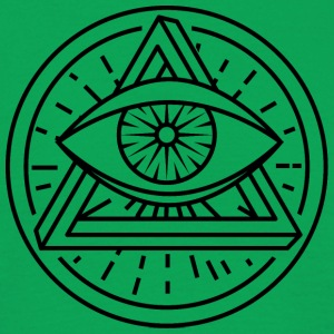 Eye of Providence with optical illusion - Men's T-Shirt