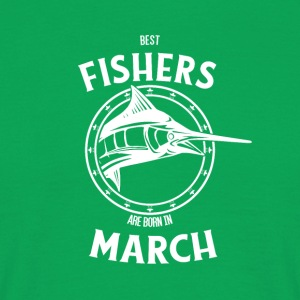 Present for fishers born in March - Men's T-Shirt
