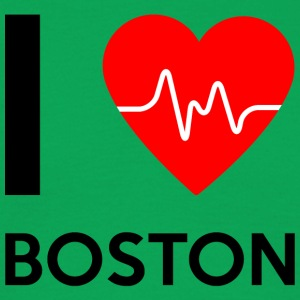 I Love Boston - jeg elsker Boston - T-skjorte for menn