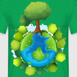 tree forest nature planet - Men's T-Shirt
