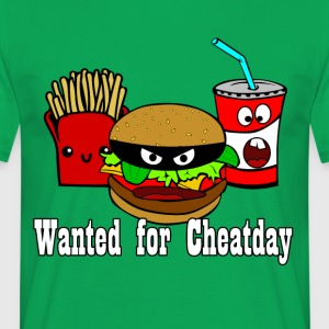 Cheatday: hamburgers, frites, boissons gazeuses - T-shirt Homme
