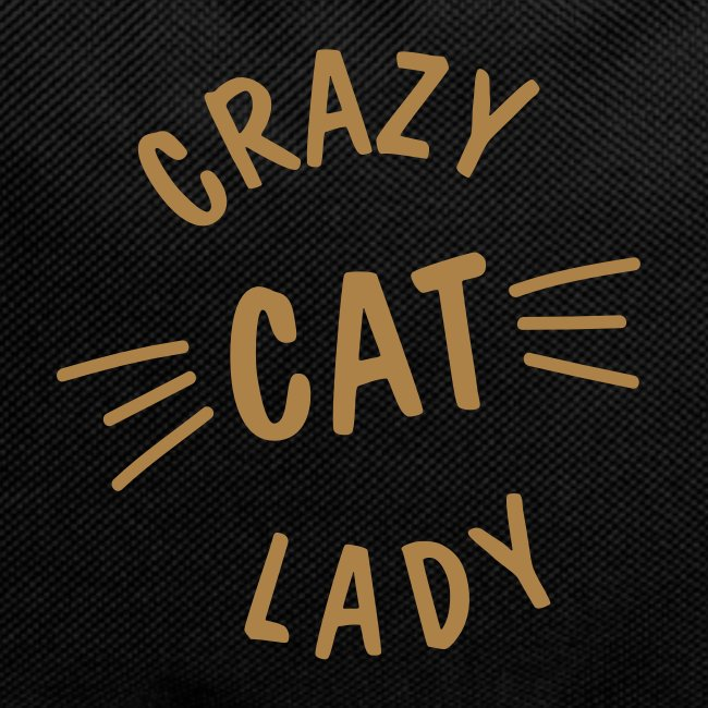 Crazy Cat Lady meow - Rucksack