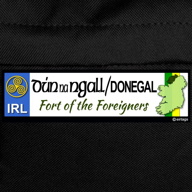 DONEGAL, IRELAND: licence plate tag style decal