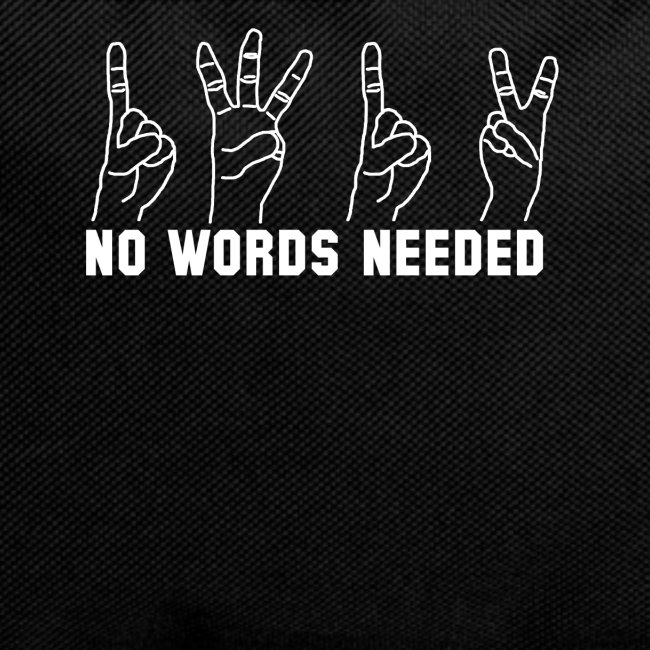 ACAB 1312 FINGER NO WORDS NEEDED OUTLAW URBAN