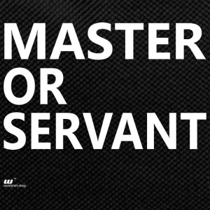 Master or Servant white - Backpack
