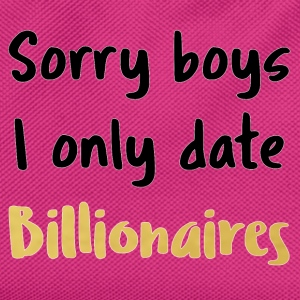 i only date billionairs - Kids' Backpack