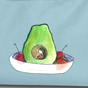 Petitesuis (avocado girl) - Kids' Backpack