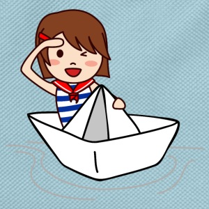 Marine on his origami boat - Kids' Backpack