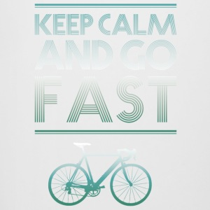 keepcalm bike bike go fast racing - Beer Mug