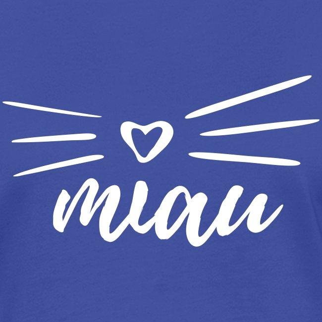 Vorschau: miau - Frauen Kontrast-T-Shirt