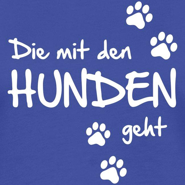 Vorschau: Die mit den Hunden geht - Frauen Kontrast-T-Shirt
