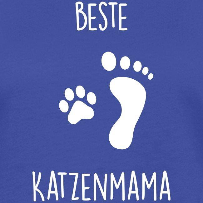 Vorschau: Beste Katzenmama - Frauen Kontrast-T-Shirt