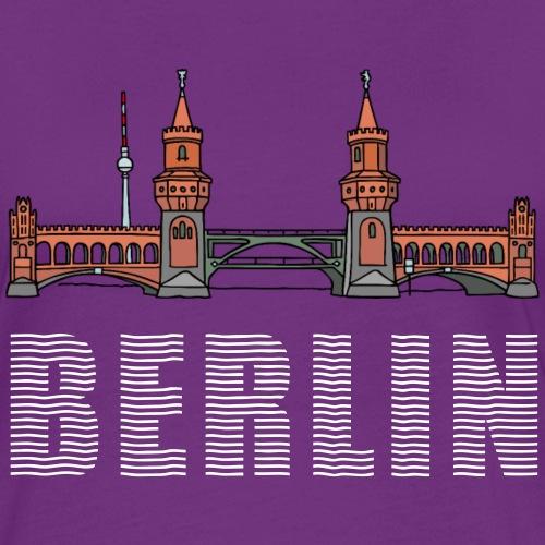 Oberbaumbrücke a BERLINO c Magliette - Maglietta Contrast da donna
