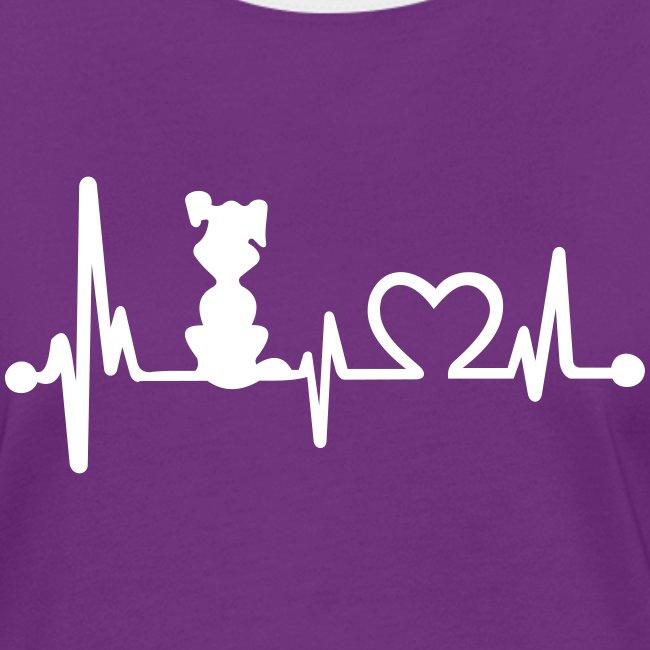 Vorschau: dog heart beat - Frauen Kontrast-T-Shirt