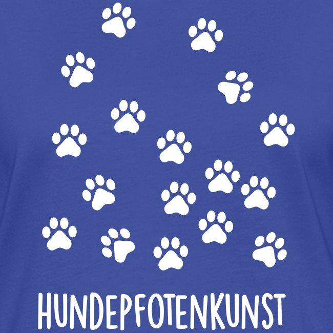 Vorschau: Hundepfotenkunst - Frauen Kontrast-T-Shirt
