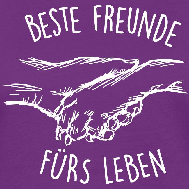 Vorschau: Beste Freunde fürs Leben - Frauen Kontrast-T-Shirt