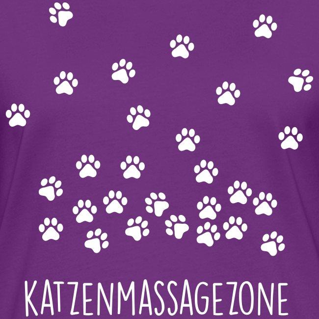 Vorschau: Katzen Massage Zone - Frauen Kontrast-T-Shirt