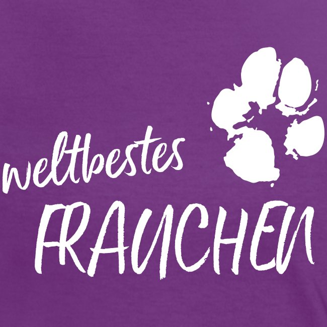 Vorschau: weltbestes Frauchen Pfote Hund - Frauen Kontrast-T-Shirt