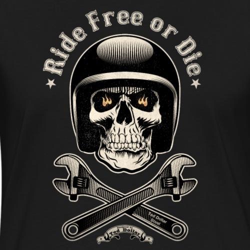 Ride free or die vintage - T-shirt contrasté Femme