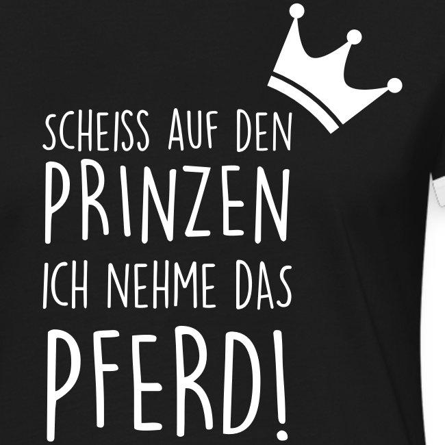 Vorschau: Prinz Pferd - Frauen Kontrast-T-Shirt
