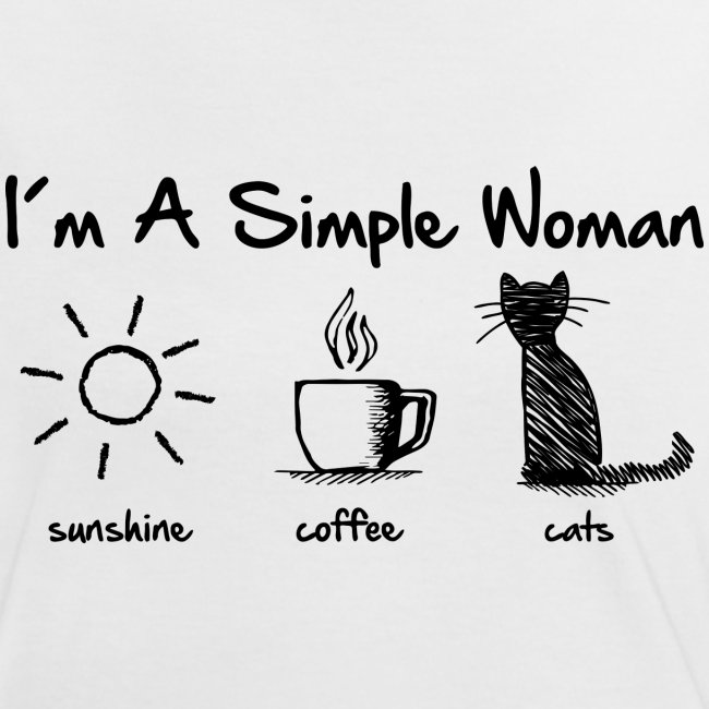 simple woman cats - Frauen Kontrast-T-Shirt