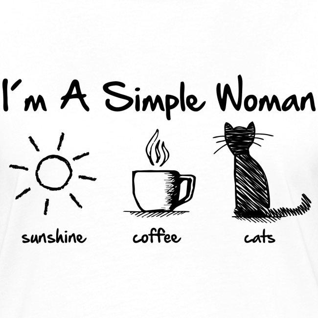 Vorschau: simple woman cats - Frauen Kontrast-T-Shirt